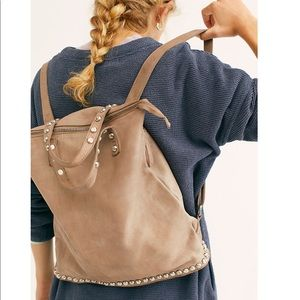 NEW free people Ellie studded leather backpack